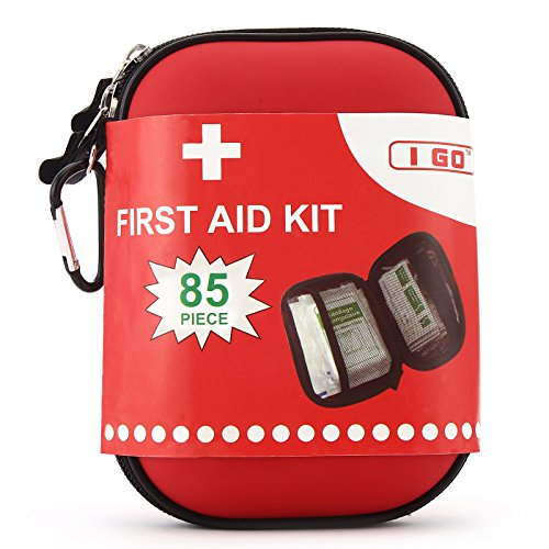 I Go A1FA08 Light and Durable First Aid Kit, Fully Stocked for an Emergency, Survival, Travel, or Home