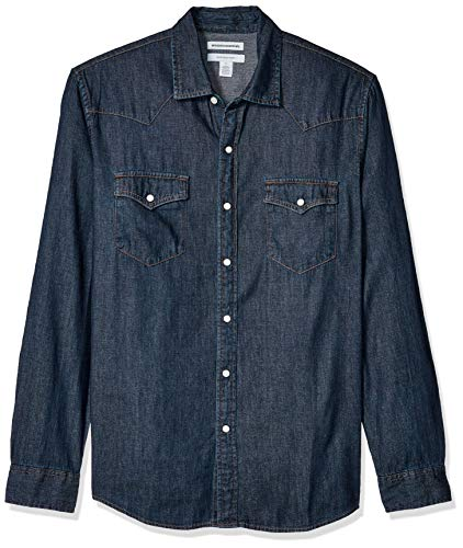 Amazon Essentials Men's Regular-fit Long-Sleeve Denim Shirt