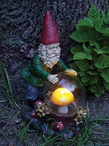 Homgar - Estatua de gnomo místico Solar para jardín Adorno Exterior Resina: Amazon.es: Jardín