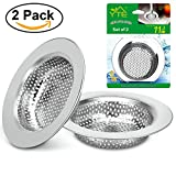 Franke Sinks Glass Kitchen Sink Strainer, YTE 2PCS Stainless Steel Sink Drain Strainer, Using Edge Covering Process, Large Wide Rim 4.5