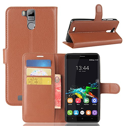 (AICEDA Oukitel K6000 Pro Wallet Case, Oukitel K6000 Pro Leather Case, Premium PU Leather Cover Folio Stand Bumper Back Cover for Oukitel K6000 Pro - Brown)