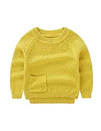 Peecabe Classic Baby Toddler Boys Sweater Long Sleeve Winter Pullover Cotton Kids Girls Knitted Sweaters