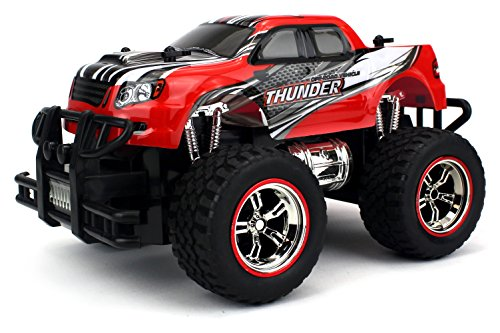 Velocity Toys Mini V-Thunder Storm Remote Control RC Truck 1:18 Scale Size Off-Road RTR Series