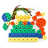 Best Motor Toy For Toddler Preschools - Nextnol 60 PCS,Stringing Beads Set,Jumbo Lacing Beads Toys,6 Review