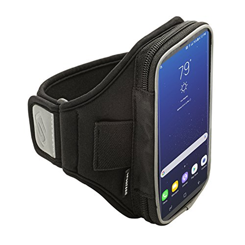 Sporteer Velocity V6 Armband for Samsung Galaxy S9, Galaxy S8, Galaxy S7, S7 Edge, S7 Active – Fits Cases – Strap Size Small/Medium