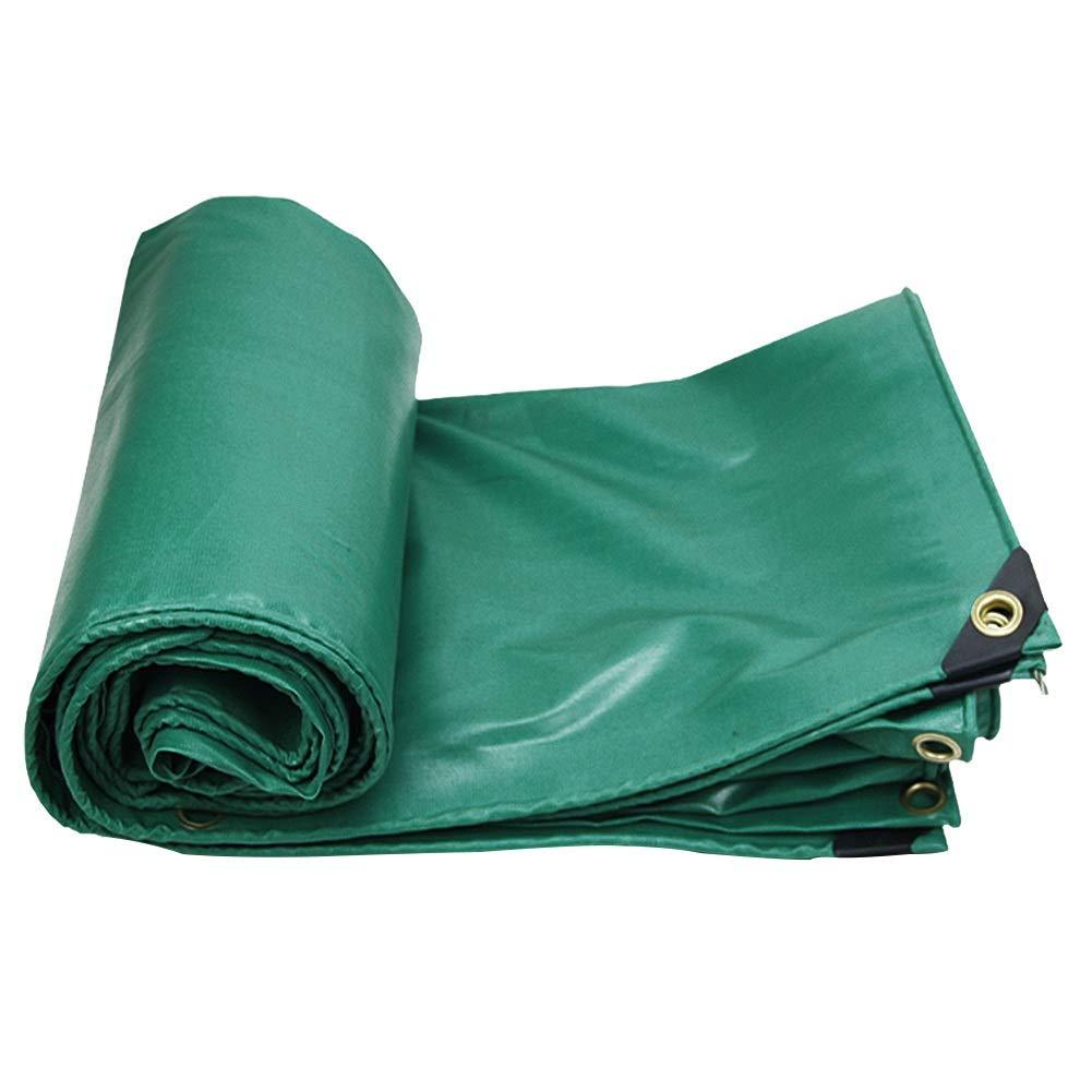 GUOWEI-pengbu ターポリン リノリウム 日焼け止め シェード 防水 防塵の 不凍液 アンチエイジング アウトドア、 0.35mm (色 : Green, サイズ さいず : 4.8x6.8m) 4.8x6.8m Green B07J2MK8CV