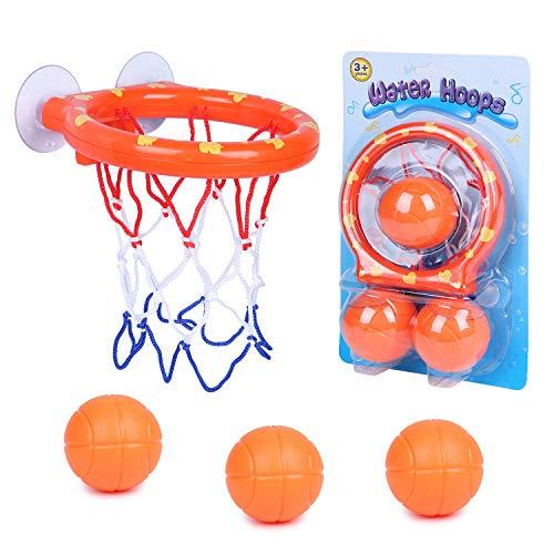 SIMUER Spaß Bad Basketballkorb & Bälle Spielset Baby Badespielzeug Kreative Badewanne Schießen Spiel Mini Basketballkorb…