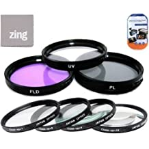 52mm Multi-Coated 7 Piece Filter Set Includes 3 PC Filter Kit (UV-CPL-FLD-) And 4 PC Close Up Filter Set (+1+2+4+10) For Nikon 55-200mm f/4-5.6G ED IF AF-S DX VR Nikkor Zoom Lens + Cap Keeper + MicroFiber Cleaning Cloth + LCD Screen Protectors