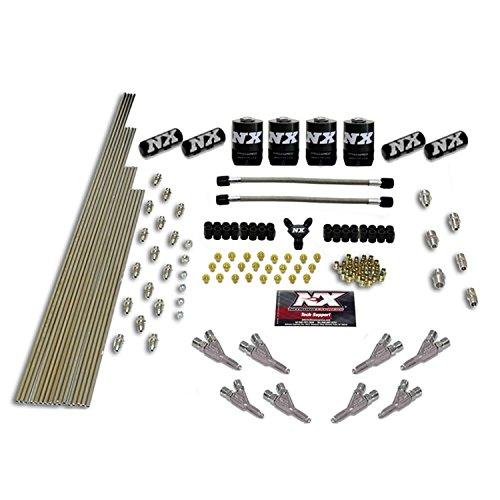 Nitrous Express 13383 8-Cylinder Stainless Steel Vortech Nozzle Intake Plumbing Kit