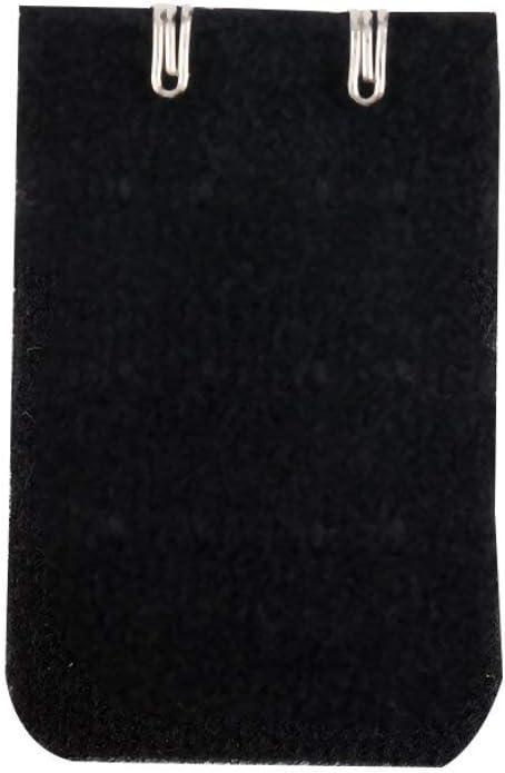 Sujetador de la mujer Correa Hebilla alargada Aleaci/ón Hebilla 2 Ganchos 3 Filas Extensor Clip Broche Hebilla Extensi/ón /Íntimos Accesorios Color: negro JOOM