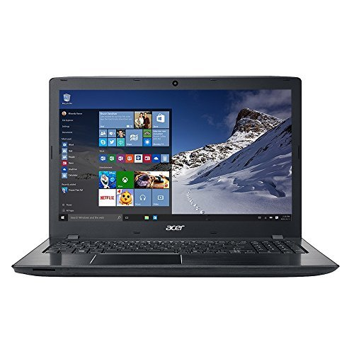 "Acer Aspire E5-575-5493 15.6"" Laptop Computer - Obsidian Black; Intel Core i5-7200U Processor 2.5GHz; 4GB DDR4 RAM; 1TB 5,400RPM Hard Drive, Microsoft Windows 10 Home"