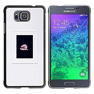 TopCaseStore / la caja del caucho duro de la cubierta de protección de la piel - Black Frame Pink Spring - Samsung GALAXY ALPHA G850