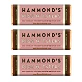 HAMMOND'S PIGS N' TATERS MILK CHOCOLATE BAR - 3 PACK   Three bars...enough to share (but, you will not want to!).  Bacon and crispy potatoes are a perfect way to start (or finish!) your day, but what if they're held together with milk chocola...