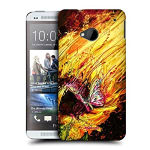 TopFshion Designs Sunflower Floral Drips Protective Snap-on Hard Back Case Cover for HTC One