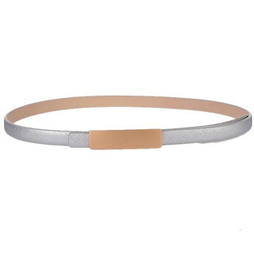 Lawevan cintura elegante vita semplice stile di moda con fibbia in lega gancio in pelle Cintura