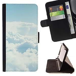 Momo Phone Case / Flip Funda de Cuero Case Cover - Cielo despejado Nube;;;;;;;; - Samsung Galaxy A3