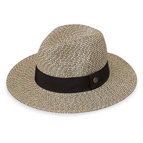 Wallaroo Womens Josie Sun Hat - Lightweight and Breathable Sun Hat - UPF 50+ (Mixed Black)