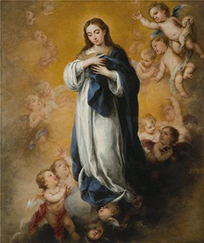 Mode 2016 Homme Costume (Oil Painting 'Bartolome Esteban Murillo,Virgin Of The Immaculate Conception,1670' Printing On High Quality Polyster Canvas , 8x10 Inch / 20x24 Cm ,the Best Nursery Gallery Art And Home Gallery Art And Gifts Is This Vivid Art Decorative Canvas Prints)