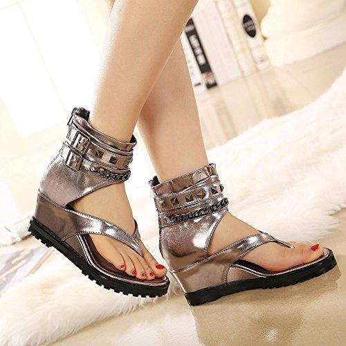 sandali anche black femminili più i tallone svuotata GTVERNH 36 tacchi sandali moda tubo china interiore xTOFqRYEw