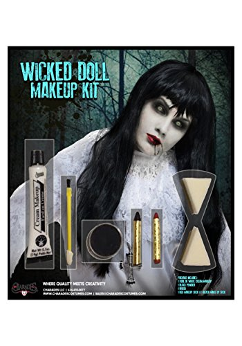 Charades Wicked Doll Makeup Kit Costume Accessory, NA, One Size