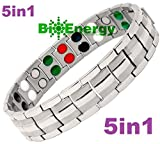 Titanium Magnetic Energy Germanium Armband Power Bracelet Health Bio 5in1 Bio 303