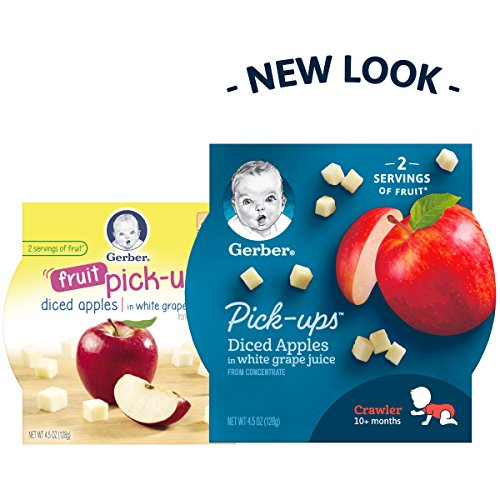 Gerber Graduates Fruit Pick Ups - Diced Apples, 4.5-Ounce (Pack of 8) by Gerber Graduates (Image #3)