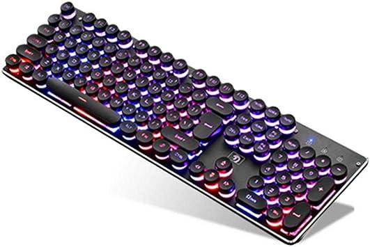 Redondo Retro con Cable USB de teclado for PC Juego de la ...