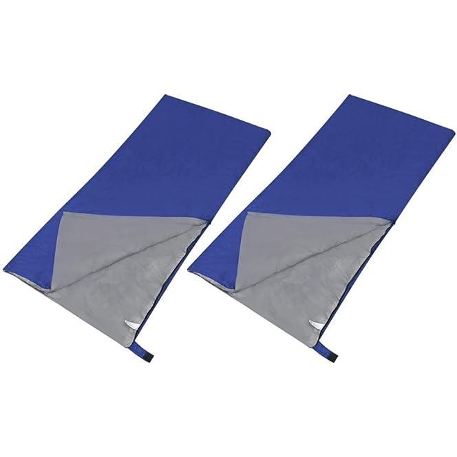VidaXL Set Of 2 Lightweight Rectangular Sleeping Bags Amazoncouk Sports Outdoors