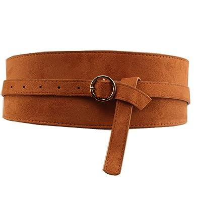 Ju-sheng New Cinturón de Cuero para Mujer diseñado Hebilla de ...