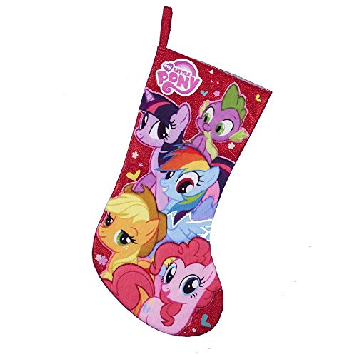 Little Hero Applique - Kurt Adler My Little Pony Applique Stocking, 19-Inch