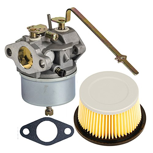 HIFROM Replace Carburetor Carb with Gasket for Tecumseh 631918 HS40 4HP HS50 5HP Engine with Air Filter for 30727 30604 (Carburetor 5hp Tecumseh)