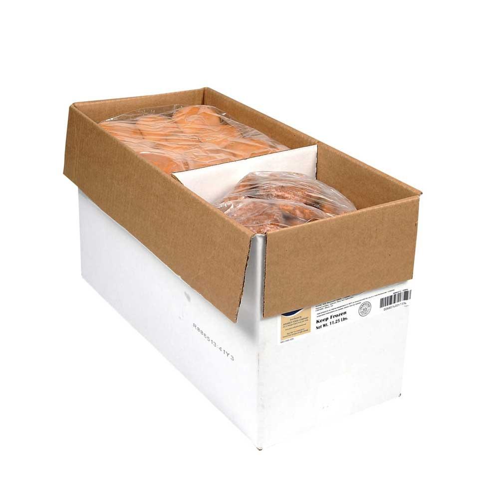 Advance Food Company Tasty Fillet Savory Breaded Mini Chicken Breast Fillet, 1.5 Ounce - 72 per case.