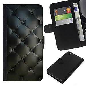 KingStore / Leather Etui en cuir / HTC DESIRE 816 / Material de Dise?o Textil Gris Interior Botones