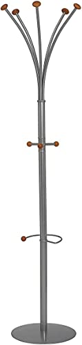 SECO Genoa Coat Stand with Umbrella Holder, 5 Coat Hooks, 3 Accessory Hooks