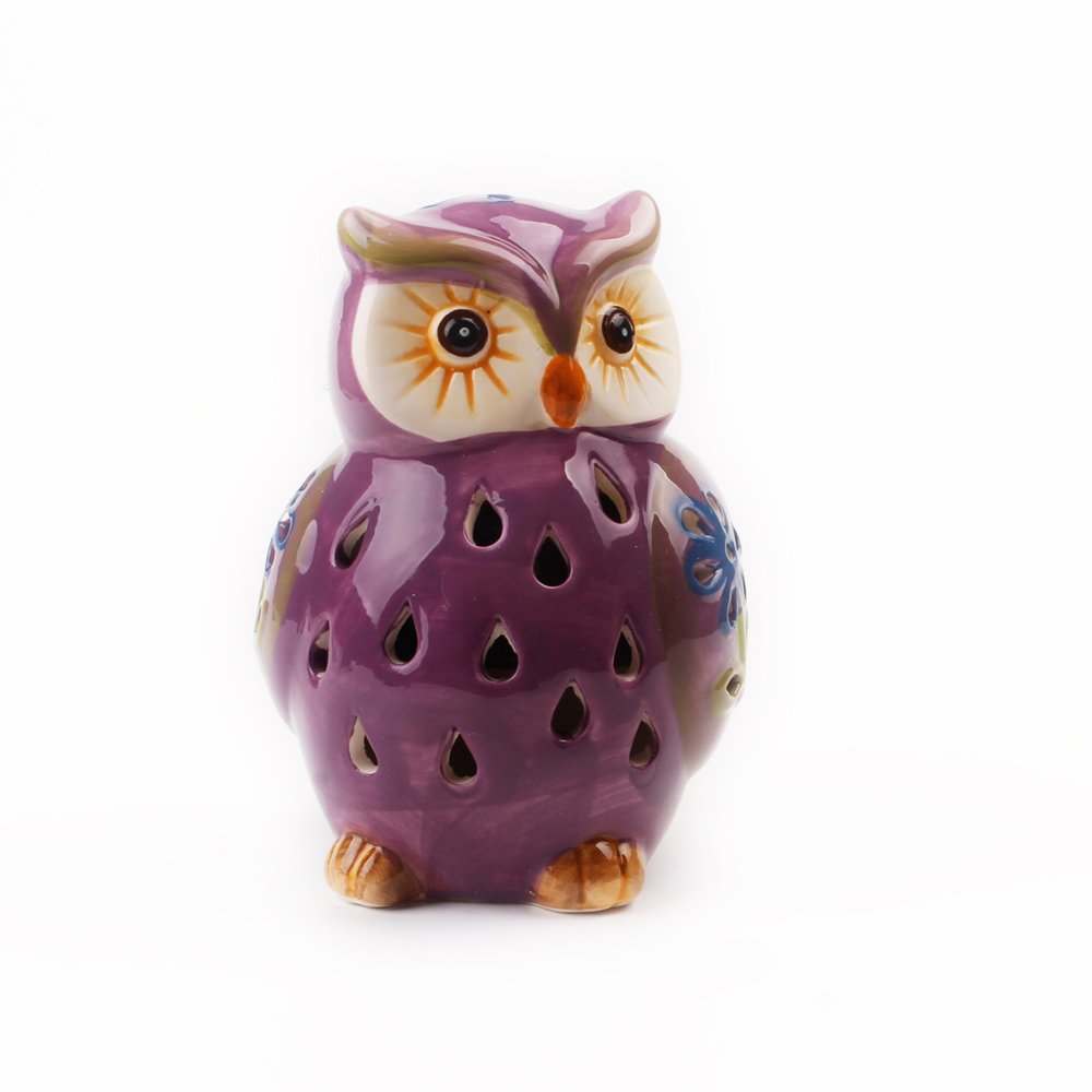 ASTRAEUS Owl Light Decor Solar Animal Light Led Owl Light Landscape Path Light Color Changing for Park/Patio/Deck/Yard/Home/Pathway Purple