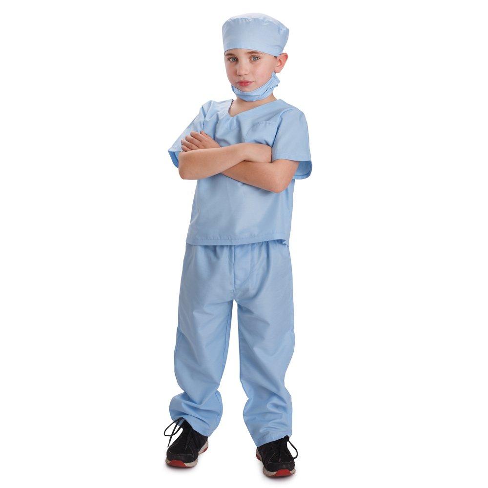 Dress up America Azul Niños médico Scrubs disfraz niños médico Scrub de jugar traje: Amazon.es: Juguetes y juegos