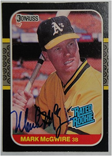 Sports Mark Mcgwire Hand Signed (Mark McGwire Hand Signed Autographed Vintage 1987 Donruss #46 Card GV 570365)