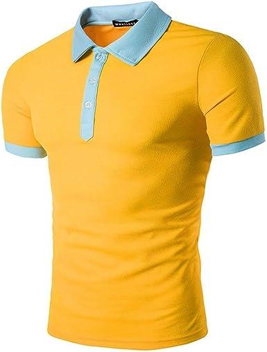Lannister Fashion Polo Camisa Hombre Verano Color Block Solapa Manga Ropa Corta Camisas Polo Tops Básico Diario Salir Casual Piqué Polo Basic: Amazon.es: Ropa y accesorios