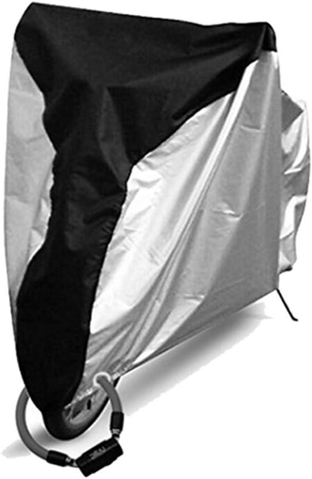 LNNUKc-BIKE Impermeable al Aire Libre de la Bicicleta Cubierta de la Lluvia de Sun a Prueba de Polvo Cubierta de la Bici con,un Dia Feliz (Color : Black+Silver, tamaño : S): Amazon.es: