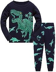TEDD Jongens Pyjama Dinosaurus Nachtkleding Katoen Peuter Kleding Kinderen Nachtkleding Winter Lange Mouwen Kerst Pjs Sets 2 Stuk Outfit Xmas Gift