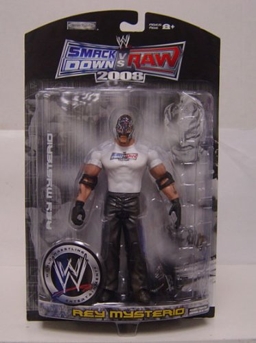 WWE Wrestling Smackdown vs. Raw 2008 Exclusive Action Figure Rey Mysterio by WWE