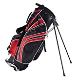 Tangkula Golf Stand Bag w/6 Way Divider Carry Organizer Pockets Storage (Red)
