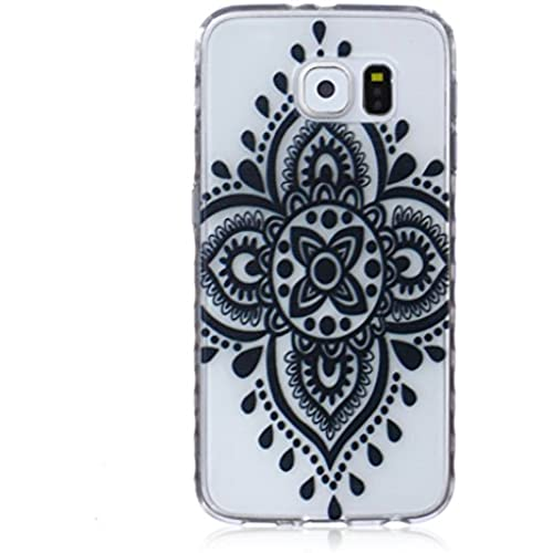For Samsung Galaxy S7 Case / 5.1 SM-G930F, ANGELLA-M Soft Flexible - Black Chinese Knot Ultra-thin Silicone TPU Bumper Protective Cover Case Sales