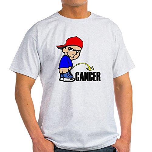 CafePress Piss On Cancer Light T-Shirt 100% Cotton T-Shirt Ash ()