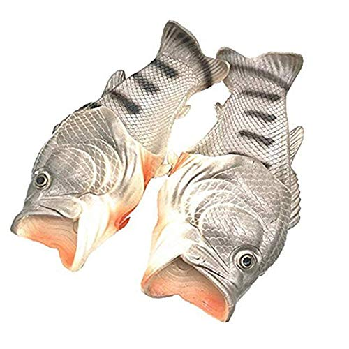 Soft Size and Women Shower Men Quick Beach Drying Slippers Large Shoes Sandals for Silvery Fish xRTwXP