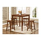 Coaster Home Furnishings Casual Dining Room 5 Piece Set, Walnut