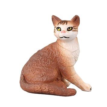 Vivianu - Juego de 10 figuras de acción realistas, diseño de gato, para decoración de pasteles, accesorios para niños y niñas 3: Amazon.es: Hogar