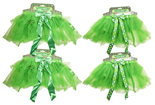 Black Duck Brand Set Of 4 ST Patrick's Day Tutu Skirts! Kid's Irish Lucky Tutu Skirt! Perfect For ST Paddy's Day or Halloween!