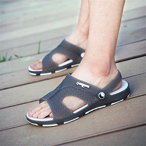 Nero flatless 44 EU Mens Color shoes uomo Grigio Dimensione cinturino da con 2018 caviglia alla Sandali qtPxR6cOww