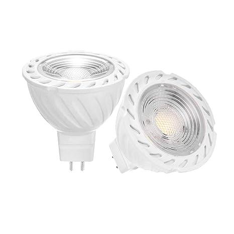 YAYZA! 2 Pack New Generation MR16 GU5.3 6W 12V ACDC Low Voltage LED COB Spotlight Light Bulb 500lm 50W Halogen Equivalent 60 Degrees Wide Beam